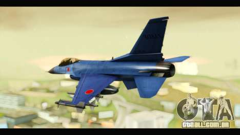 Mitsubishi F-2A JASDF Blue v2.0 para GTA San Andreas esquerda vista