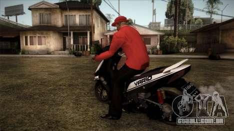 Honda Vario para GTA San Andreas esquerda vista