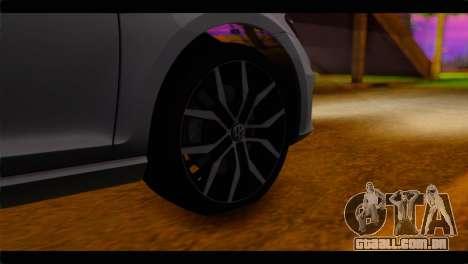 Volkswagen Golf 7 para GTA San Andreas traseira esquerda vista