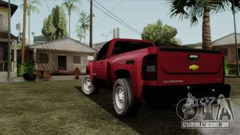 Chevrolet Silverado Cabina Sencilla para GTA San Andreas esquerda vista