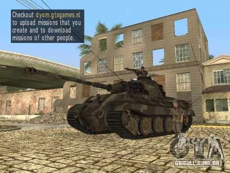 Panzerkampfwagen Tiger II para GTA San Andreas esquerda vista