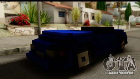 Minecraft Car para GTA San Andreas