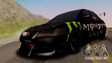 Mitsubishi Lancer Evo IX Monster Energy para GTA San Andreas
