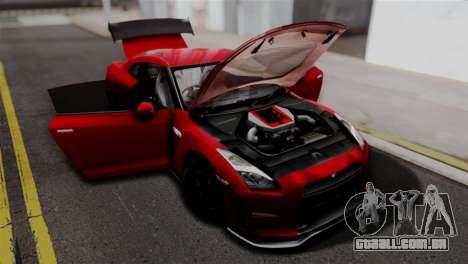 Nissan GTR Nismo 2015 para GTA San Andreas vista direita