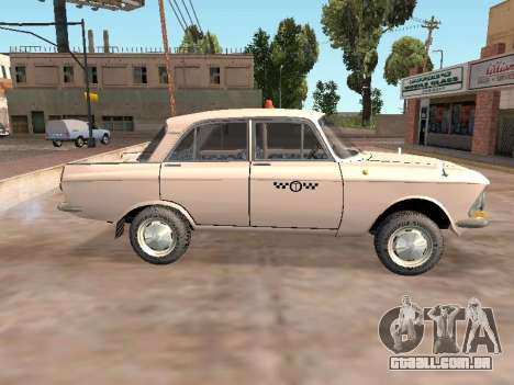 Moskvich 412 Cab para GTA San Andreas esquerda vista