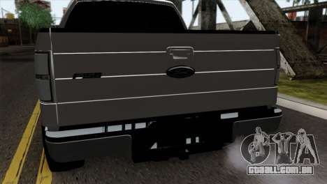 Ford F-150 4X4 Off Road para GTA San Andreas vista traseira