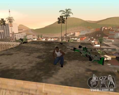 Green Pack Asiimov CS:GO para GTA San Andreas segunda tela