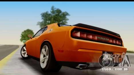 Dodge Challenger SRT8 2009 para GTA San Andreas vista direita