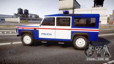 Land Rover Defender Policia PSP [ELS] para GTA 4 esquerda vista