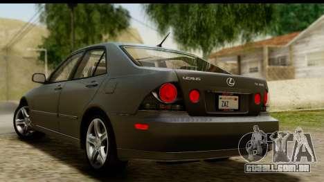 Lexus IS300 Tunable para GTA San Andreas esquerda vista