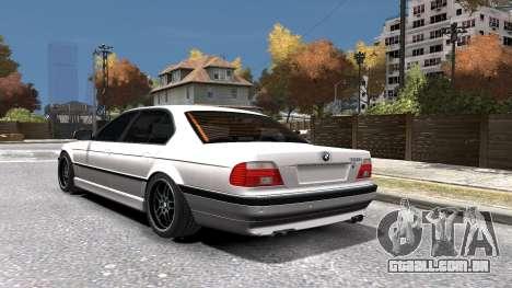 BMW 750i e38 1994 Final para GTA 4 vista inferior