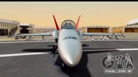 McDonnell Douglas FA-18C Hornet VMFA-232 USMC para GTA San Andreas vista traseira