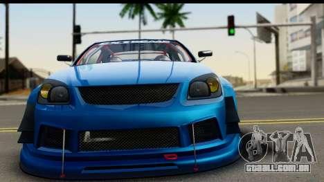 Chevrolet Cobalt SS Mio Itasha para GTA San Andreas traseira esquerda vista