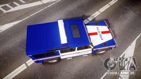Land Rover Defender Policia PSP [ELS] para GTA 4 vista direita