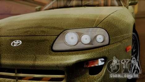 Toyota Supra Turbo (JZA80) 1998 FF7 Edition para GTA San Andreas vista traseira