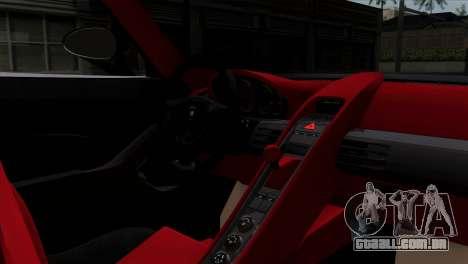 Gemballa Mirage GT v1 Windows Down para GTA San Andreas traseira esquerda vista
