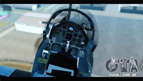 Beechcraft T-6 Texan II United States Navy 2 para GTA San Andreas vista traseira