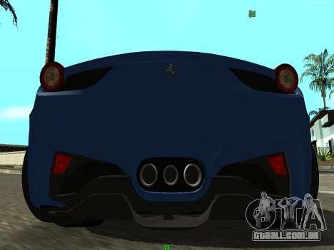 Ferrari 458 Italia para GTA San Andreas vista direita