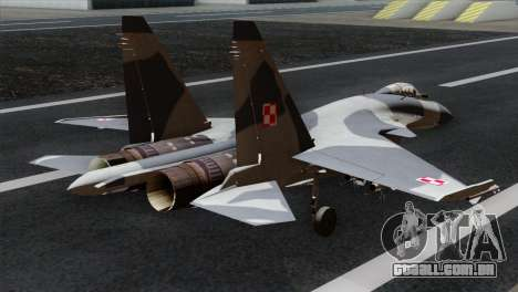 SU-37 Flanker-F Polish Air Force para GTA San Andreas esquerda vista