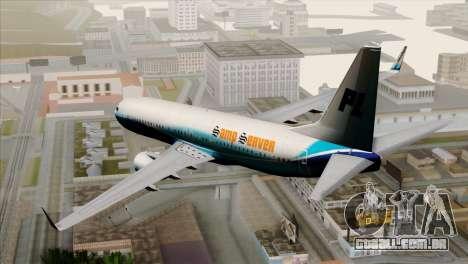 Boeing B737-800 Pilot Life Boeing Merge para GTA San Andreas esquerda vista
