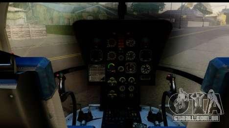 MBB Bo-105 Air Med para GTA San Andreas vista traseira