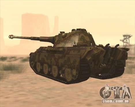 Pz.Kpfw. V Panther II Desert Camo para GTA San Andreas traseira esquerda vista