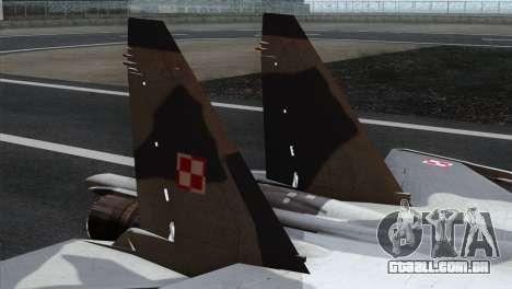SU-37 Flanker-F Polish Air Force para GTA San Andreas traseira esquerda vista