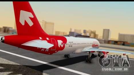 Airbus A320-200 OLT Express para GTA San Andreas esquerda vista