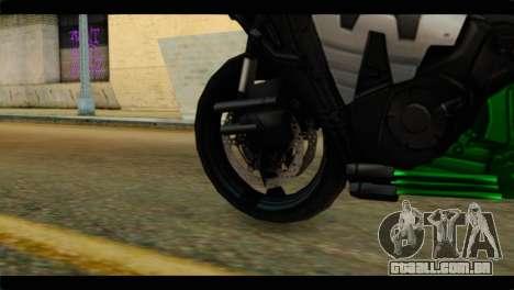 Honda CBR1000RR para GTA San Andreas traseira esquerda vista