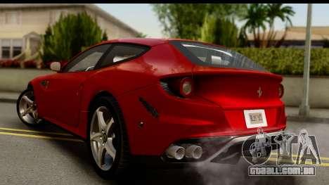 NFS Rivals Ferrari FF para GTA San Andreas esquerda vista