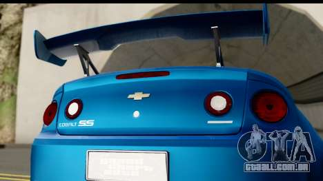 Chevrolet Cobalt SS Mio Itasha para GTA San Andreas vista direita