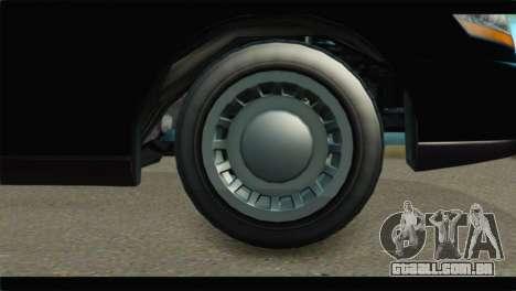 GTA 5 Dundreary Stretch IVF para GTA San Andreas traseira esquerda vista