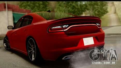 Dodge Charger RT 2015 para GTA San Andreas esquerda vista