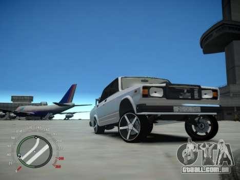 VAZ 2107 Aze para GTA 4 vista de volta