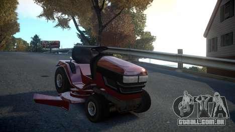 GTA V Lawn Mower para GTA 4 vista de volta