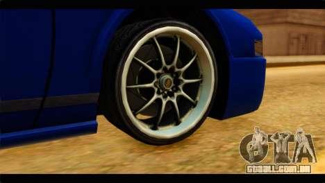 Infernus Rapide GTS para GTA San Andreas traseira esquerda vista