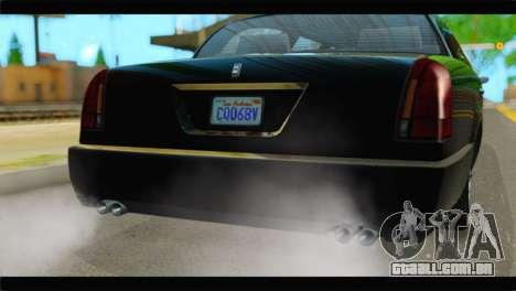 GTA 5 Dundreary Stretch IVF para GTA San Andreas vista traseira