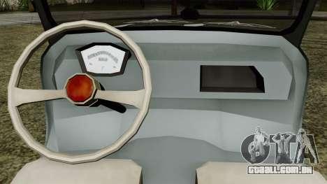 Vespa 400 para GTA San Andreas vista traseira
