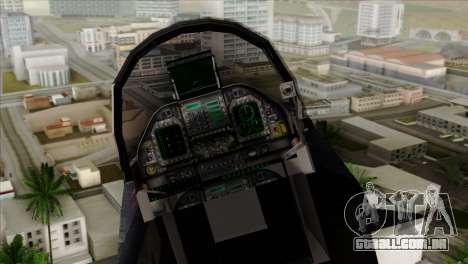 FA-18 HARV para GTA San Andreas vista traseira
