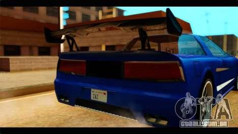 Infernus Rapide GTS para GTA San Andreas vista traseira