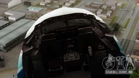 Boeing B737-800 Pilot Life Boeing Merge para GTA San Andreas vista traseira
