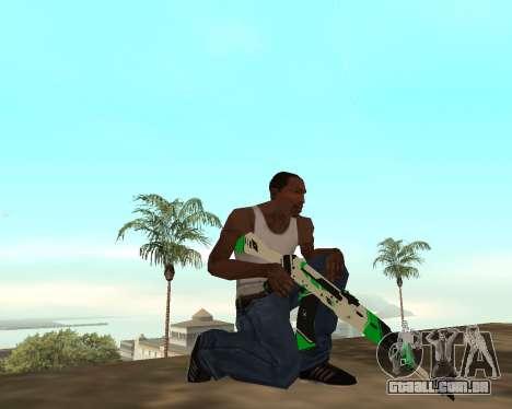 Green Pack Asiimov CS:GO para GTA San Andreas sexta tela