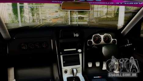 Nissan Skyline GTR34 Tokage para GTA San Andreas vista direita