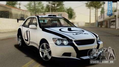 Lexus IS300 Tunable para as rodas de GTA San Andreas