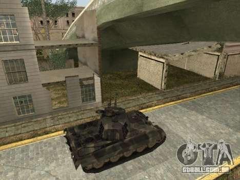 Panzerkampfwagen Tiger II para GTA San Andreas vista direita