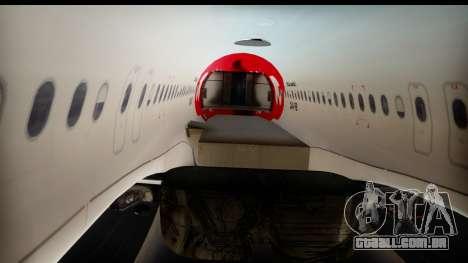 Airbus A320-200 OLT Express para GTA San Andreas vista interior