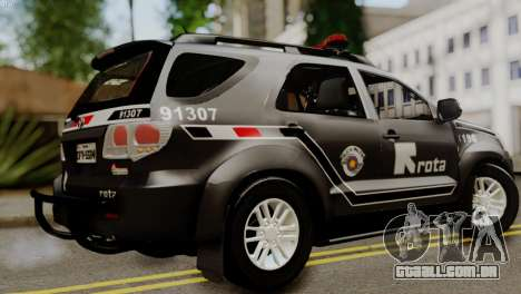 Toyota Hilux SW4 2014 ROTA para GTA San Andreas esquerda vista