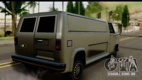 Burney Van para GTA San Andreas esquerda vista
