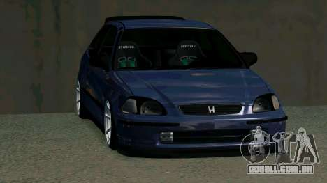 Honda Civic EK9 para GTA San Andreas vista interior