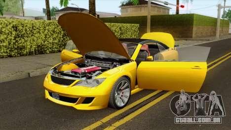 GTA 5 Ubermacht Zion XS Cabrio para GTA San Andreas vista traseira